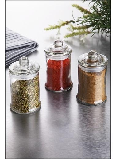 Kitchen Love 3 Lü Kapaklı Cam Baharat Set -11X6Cm-11X6Cm  Renksiz
